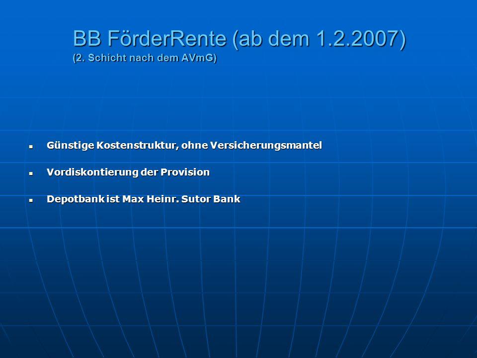 BB FörderRente (ab dem 1.2.2007) (2. Schicht nach dem AVmG)