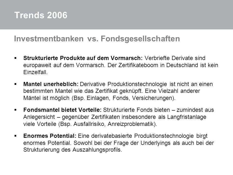 Trends 2006 Investmentbanken vs. Fondsgesellschaften