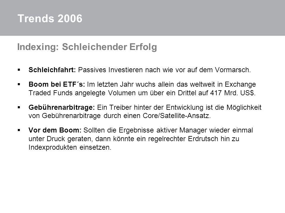 Trends 2006 Indexing: Schleichender Erfolg