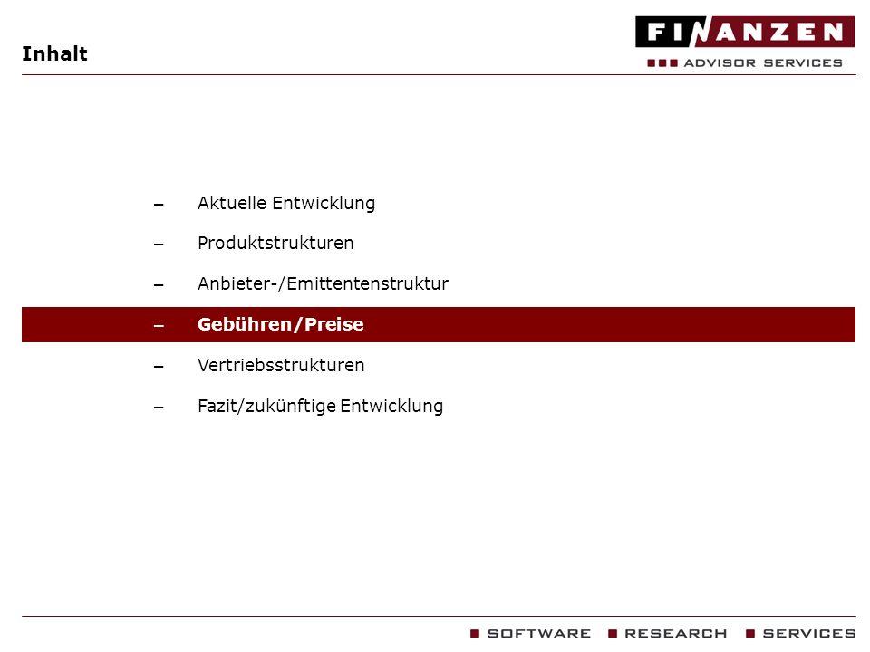 Inhalt Aktuelle Entwicklung Produktstrukturen