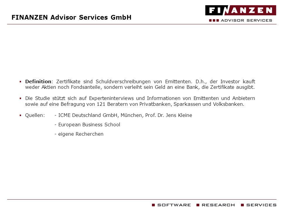 FINANZEN Advisor Services GmbH