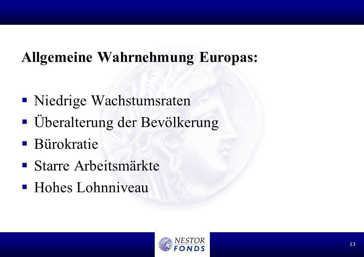 Allgemeine Wahrnehmung Europas: