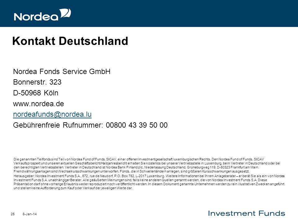 Kontakt Deutschland Nordea Fonds Service GmbH Bonnerstr. 323