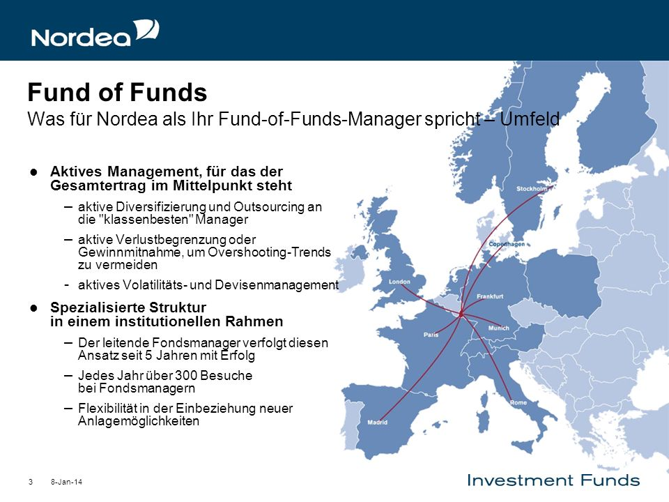 Fund of Funds Was für Nordea als Ihr Fund-of-Funds-Manager spricht – Umfeld
