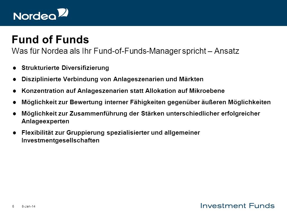 Fund of Funds Was für Nordea als Ihr Fund-of-Funds-Manager spricht – Ansatz