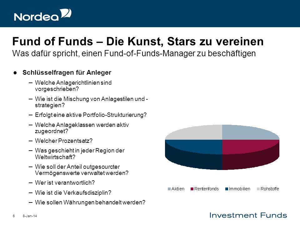 Fund of Funds – Die Kunst, Stars zu vereinen Was dafür spricht, einen Fund-of-Funds-Manager zu beschäftigen