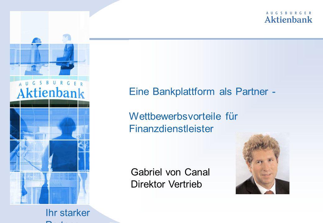 Eine Bankplattform als Partner - Wettbewerbsvorteile für