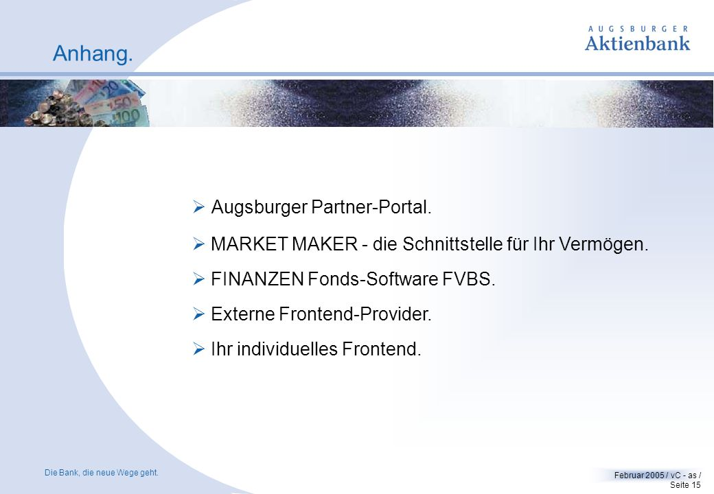 Anhang. Augsburger Partner-Portal.
