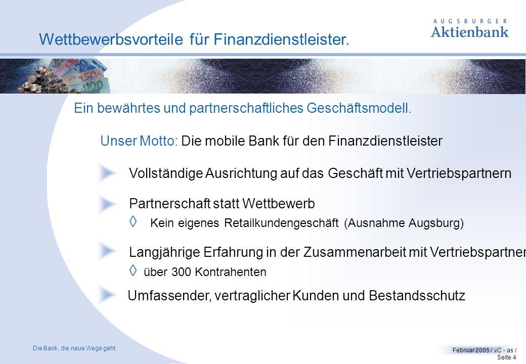 Wettbewerbsvorteile für Finanzdienstleister.
