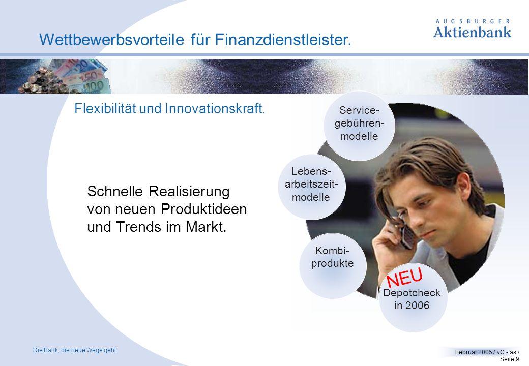 NEU Wettbewerbsvorteile für Finanzdienstleister. Schnelle Realisierung