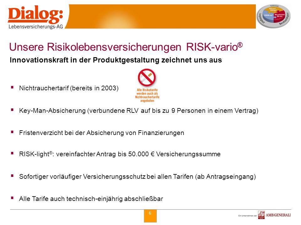 Unsere Risikolebensversicherungen RISK-vario®