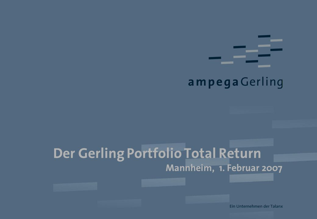 Der Gerling Portfolio Total Return
