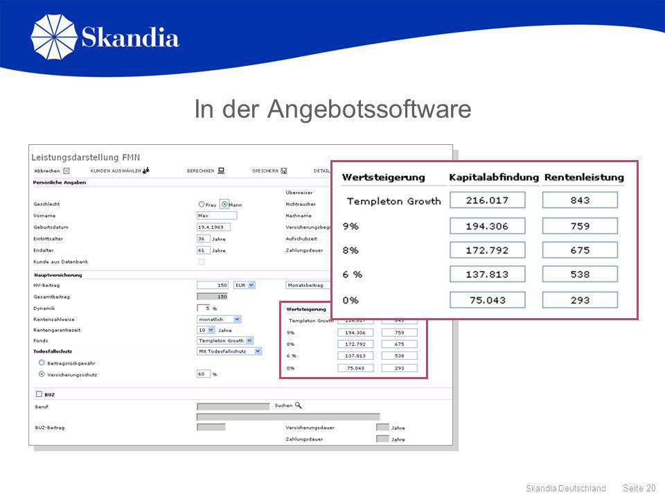 In der Angebotssoftware