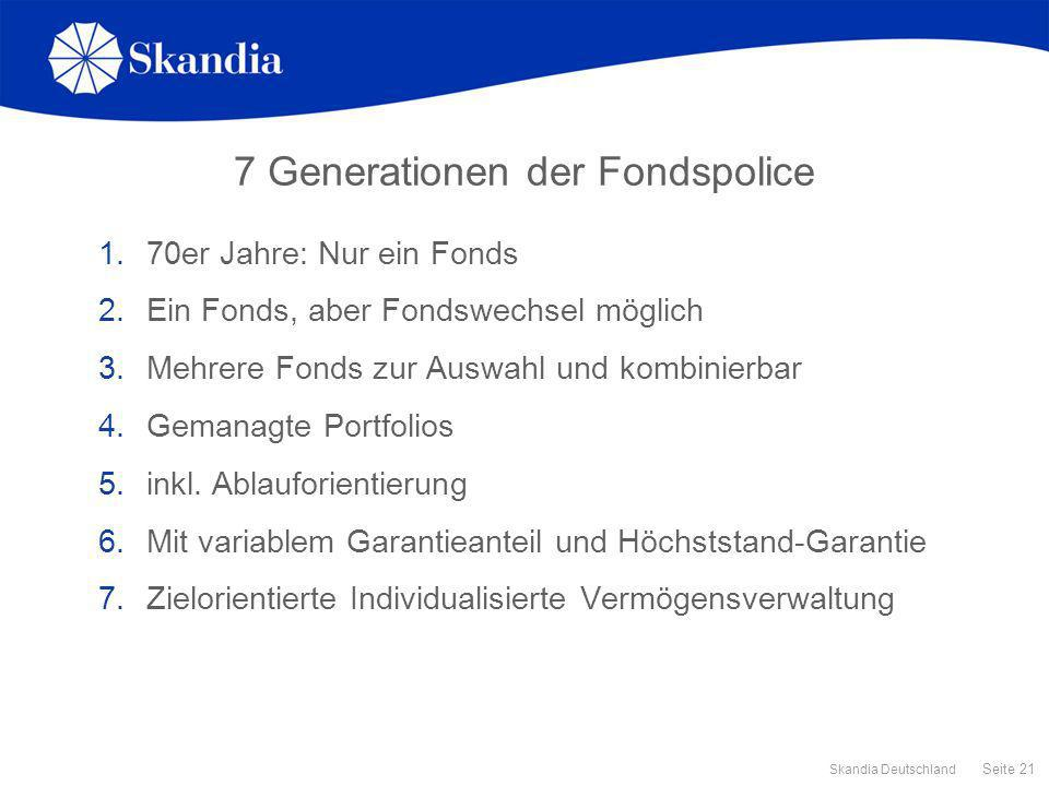 7 Generationen der Fondspolice