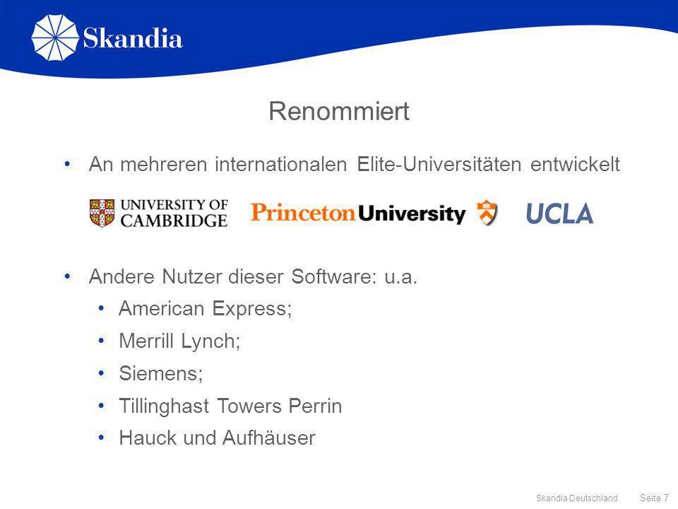 Renommiert An mehreren internationalen Elite-Universitäten entwickelt