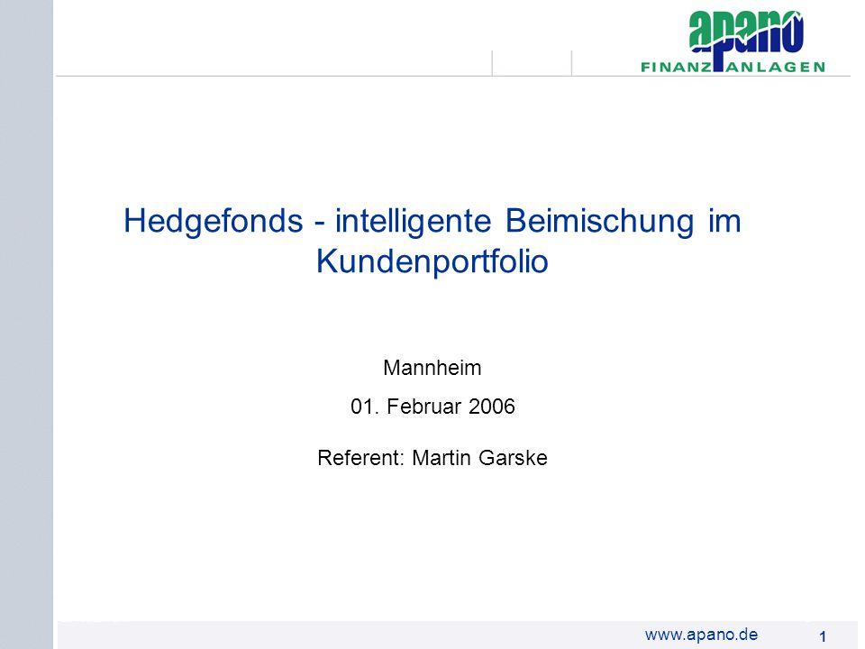 Hedgefonds - intelligente Beimischung im Kundenportfolio