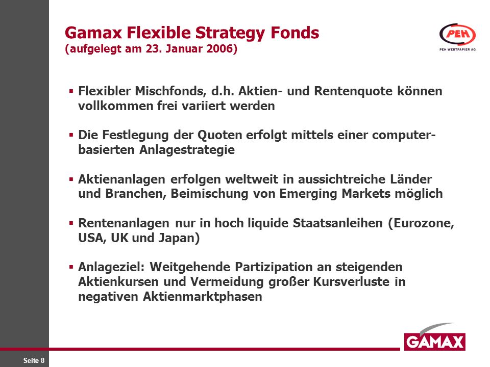Gamax Flexible Strategy Fonds (aufgelegt am 23. Januar 2006)