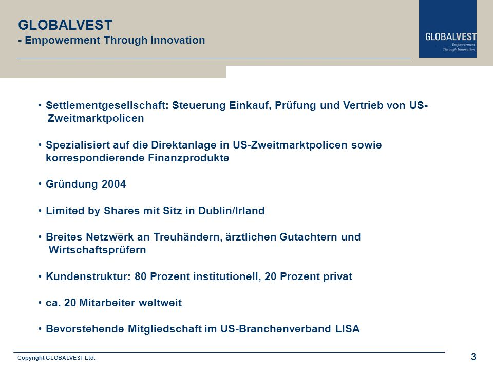 Copyright GLOBALVEST Ltd.