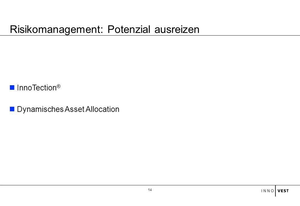 Risikomanagement: Potenzial ausreizen