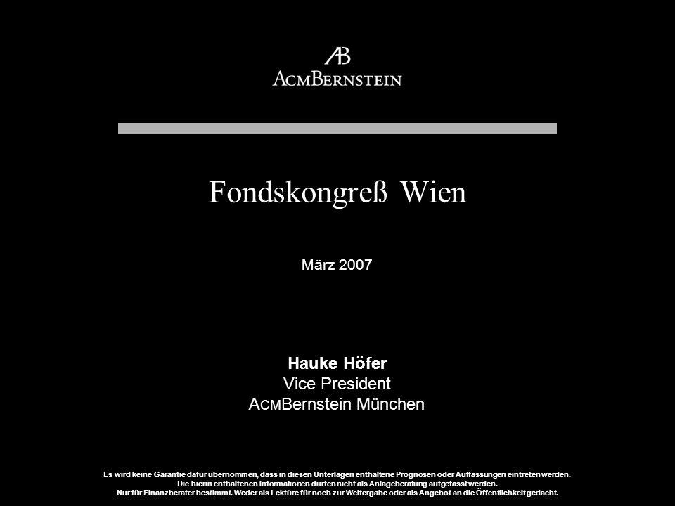 Fondskongreß Wien Hauke Höfer Vice President ACMBernstein München