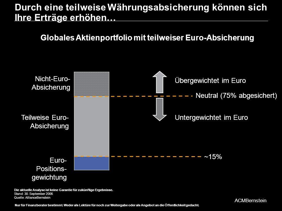 Globales Aktienportfolio mit teilweiser Euro-Absicherung