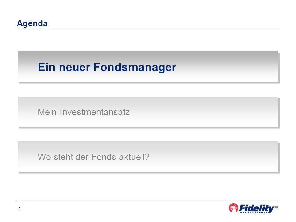 Ein neuer Fondsmanager