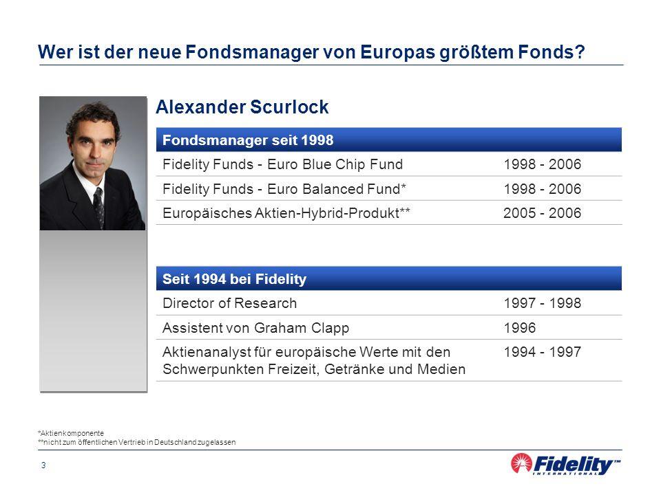 Wer ist der neue Fondsmanager von Europas größtem Fonds