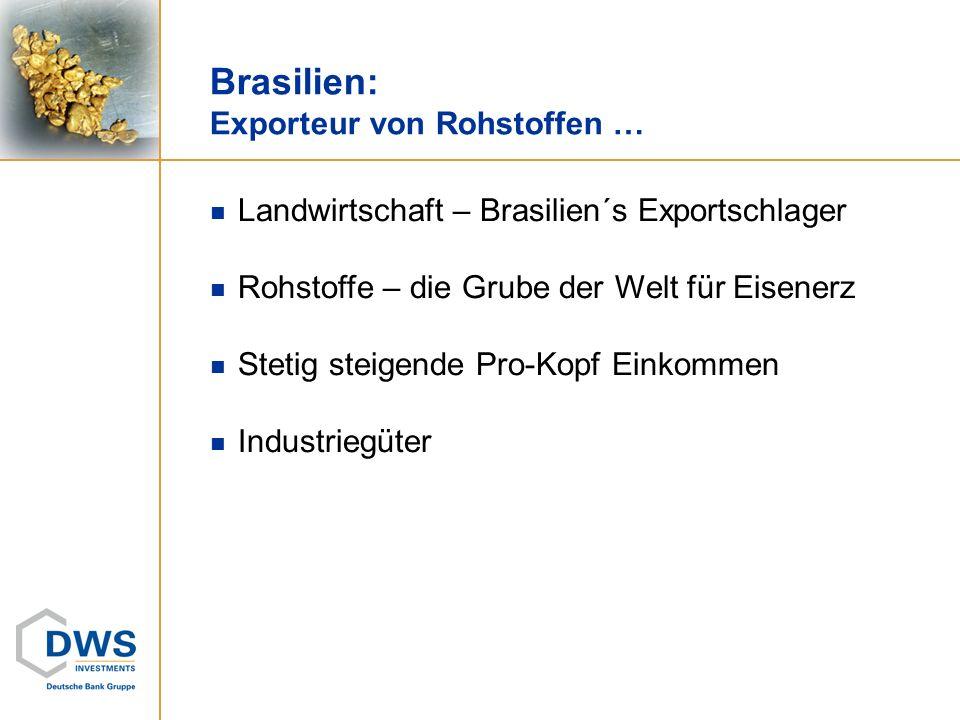 Brasilien: Exporteur von Rohstoffen …