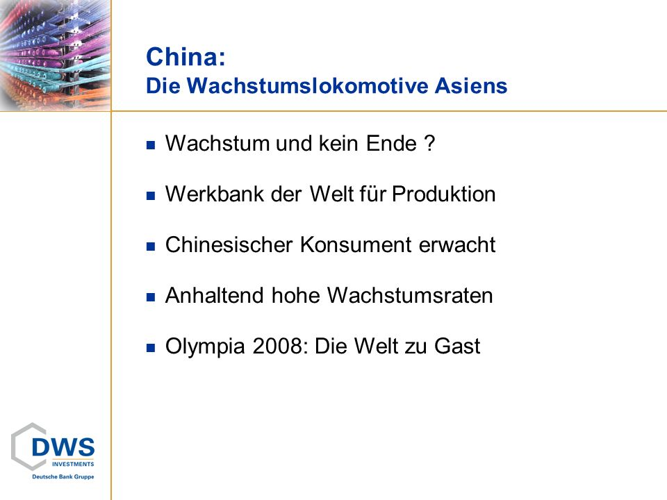 China: Die Wachstumslokomotive Asiens