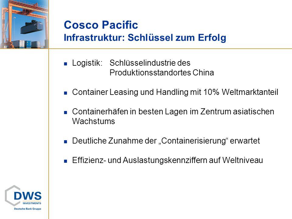 Cosco Pacific Infrastruktur: Schlüssel zum Erfolg