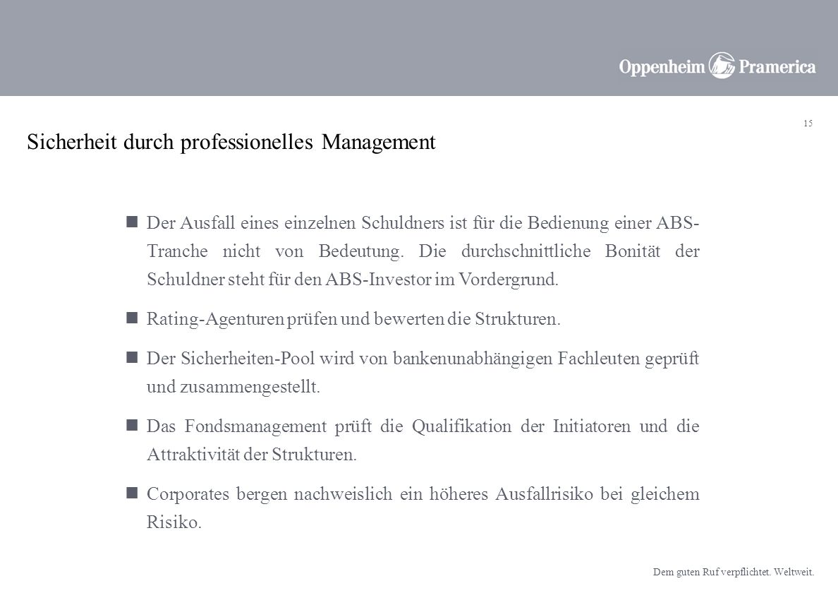 Sicherheit durch professionelles Management
