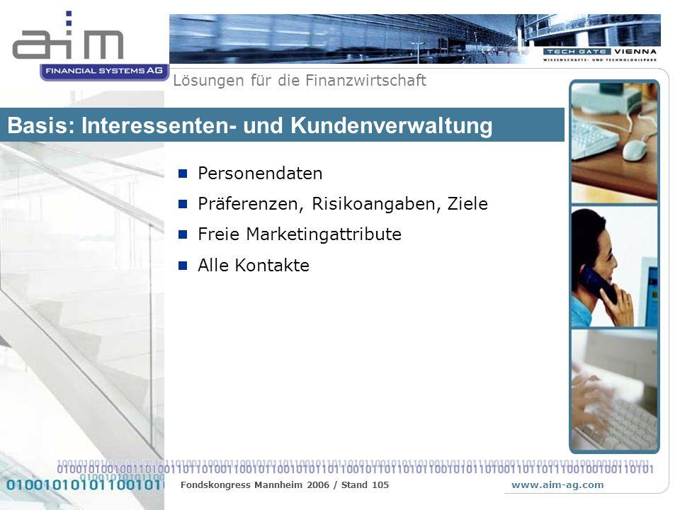 Basis: Interessenten- und Kundenverwaltung