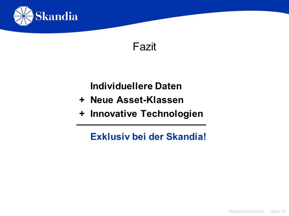 Fazit Individuellere Daten + Neue Asset-Klassen
