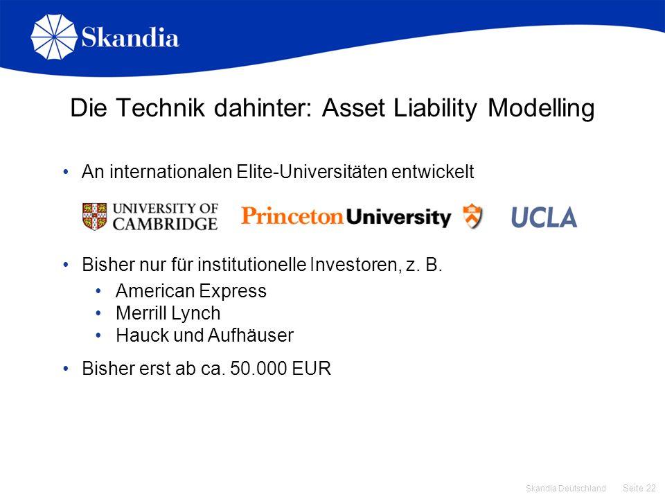 Die Technik dahinter: Asset Liability Modelling
