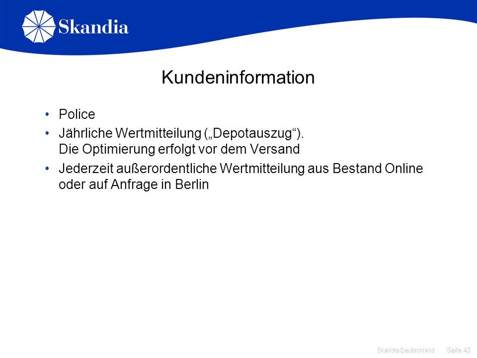 Kundeninformation Police