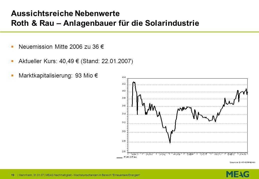 Aussichtsreiche Nebenwerte Roth & Rau – Anlagenbauer für die Solarindustrie