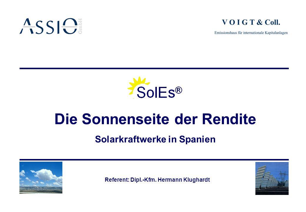 Die Sonnenseite der Rendite Solarkraftwerke in Spanien