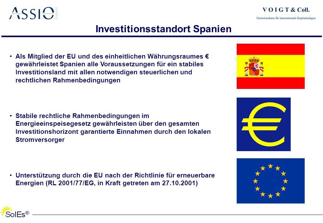 Investitionsstandort Spanien