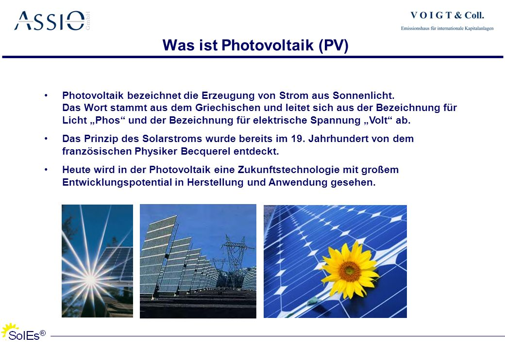 Was ist Photovoltaik (PV)