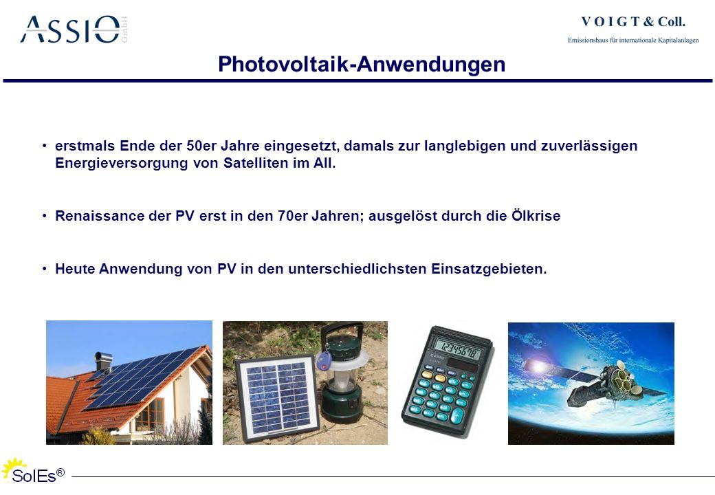 Photovoltaik-Anwendungen