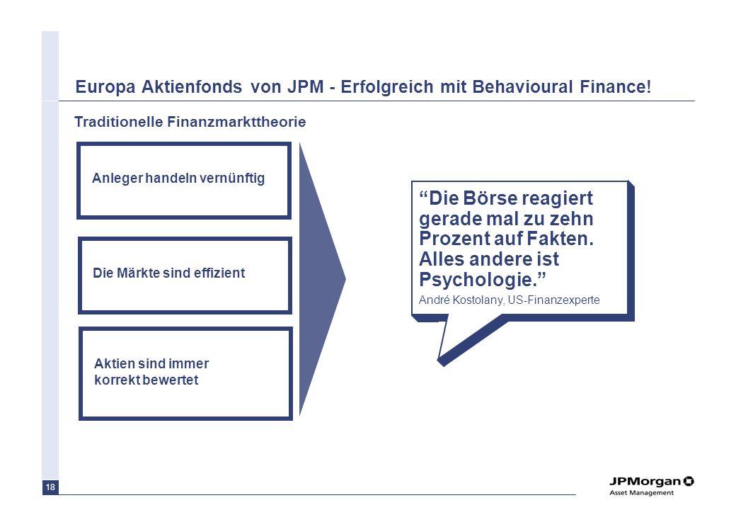 Europa Aktienfonds von JPM - Erfolgreich mit Behavioural Finance!