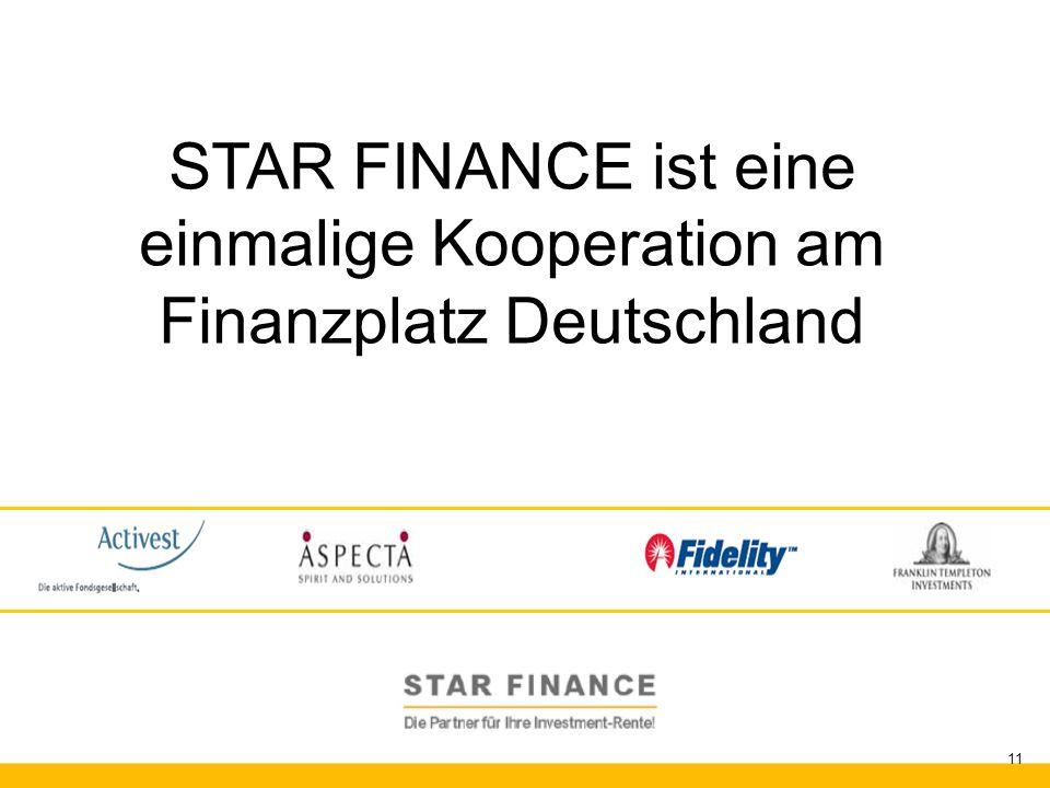 STAR FINANCE ist eine einmalige Kooperation am Finanzplatz Deutschland