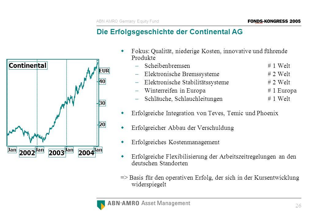 Die Erfolgsgeschichte der Continental AG
