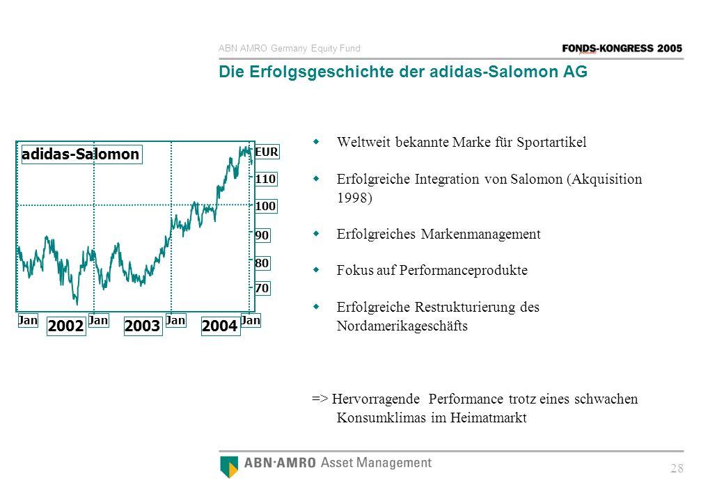 Die Erfolgsgeschichte der adidas-Salomon AG