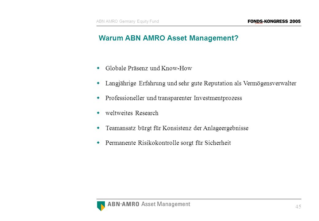 Warum ABN AMRO Asset Management