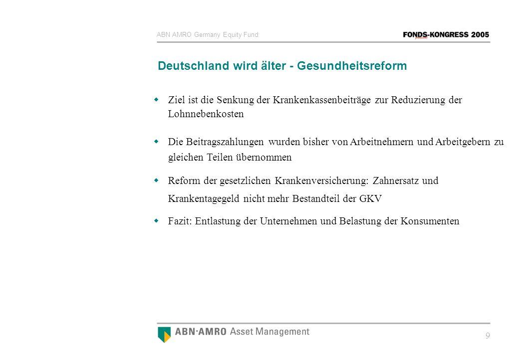 Deutschland wird älter - Gesundheitsreform