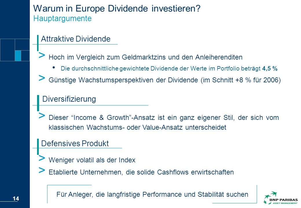 Warum in Europe Dividende investieren Hauptargumente