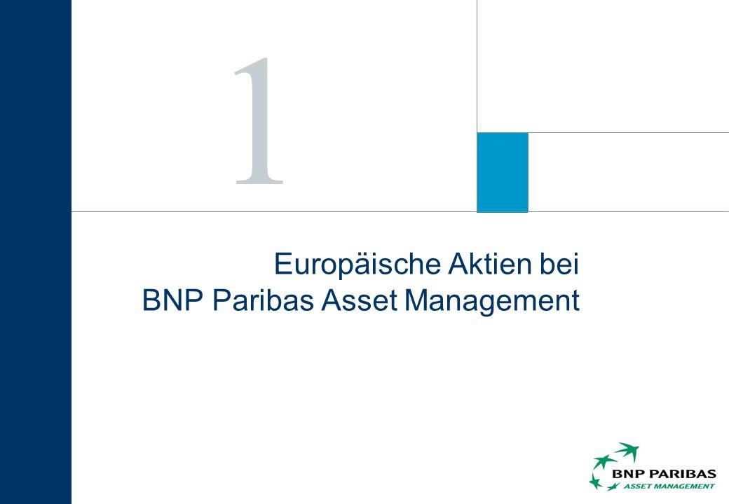 Europäische Aktien bei BNP Paribas Asset Management