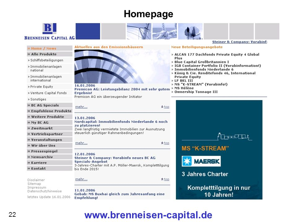 Homepage www.brenneisen-capital.de