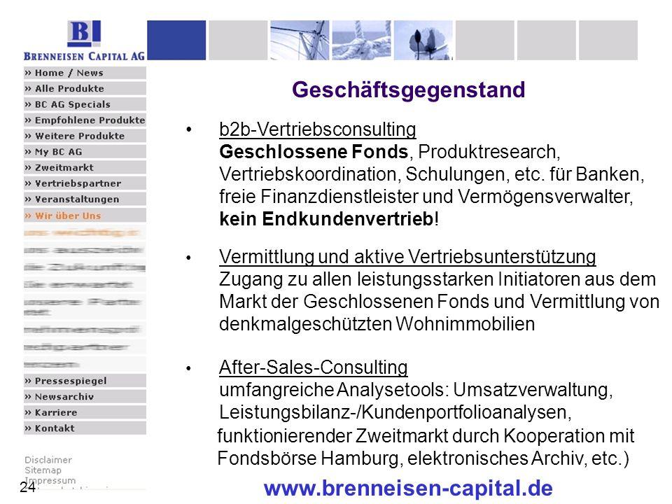 Geschäftsgegenstand www.brenneisen-capital.de